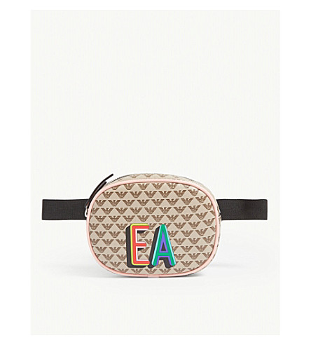 Emporio Armani Belts Eagle logo canvas belt bag