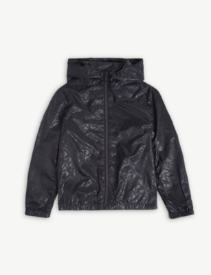 EMPORIO ARMANI Eagle logo hooded jacket 4-16 years
