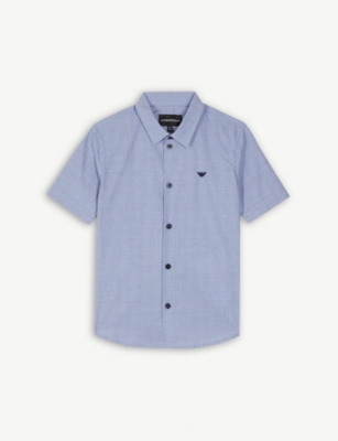 EMPORIO ARMANI Check cotton shirt 4-14 years