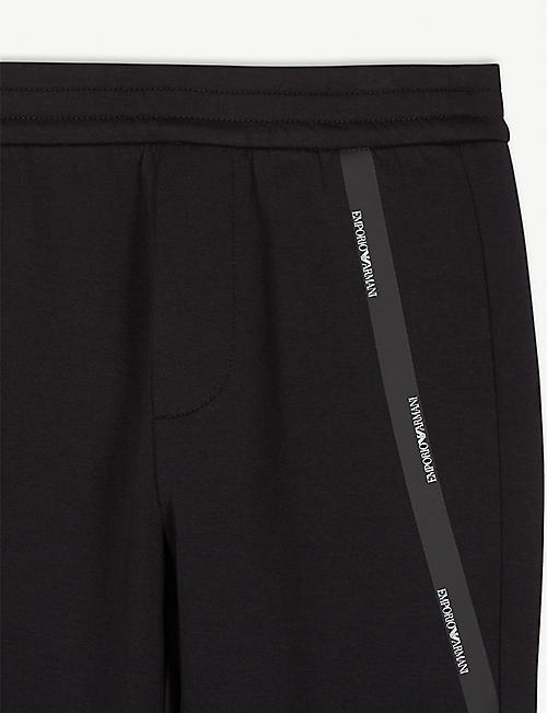 EMPORIO ARMANI Logo tape jogging bottoms 8-16 years