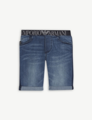 EMPORIO ARMANI Denim shorts 4-16 years