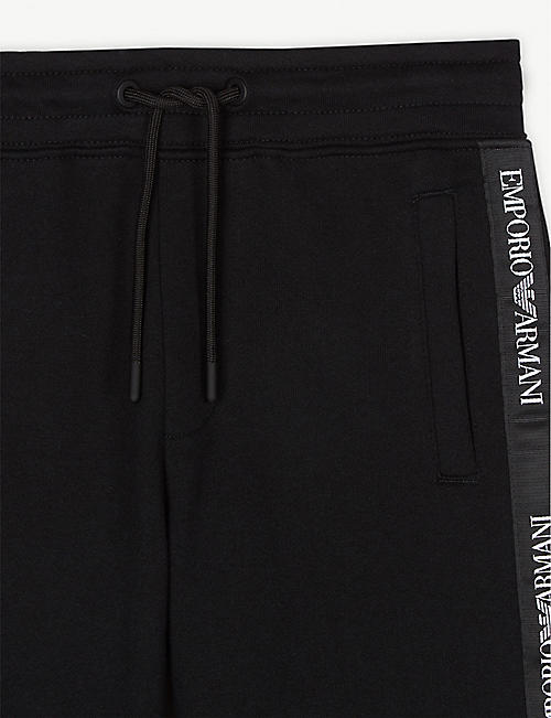 EMPORIO ARMANI Logo tape jersey shorts 4-16 years