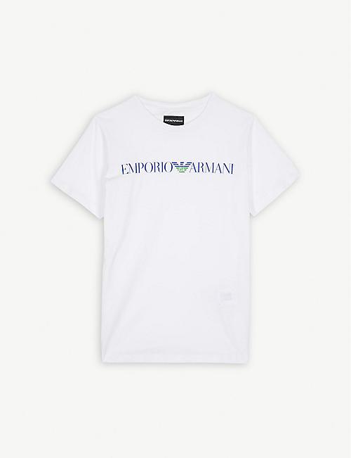 c1e5222517b EMPORIO ARMANI Logo-print jersey T-shirt 4-16 years