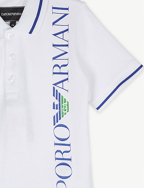 EMPORIO ARMANI Polo shirt and shorts set 4-16 years