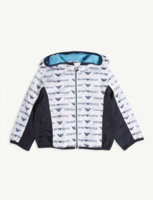 EMPORIO ARMANI Logo hooded windbreaker
