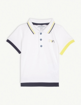 EMPORIO ARMANI Logo cotton-blend polo shirt 6-36 months