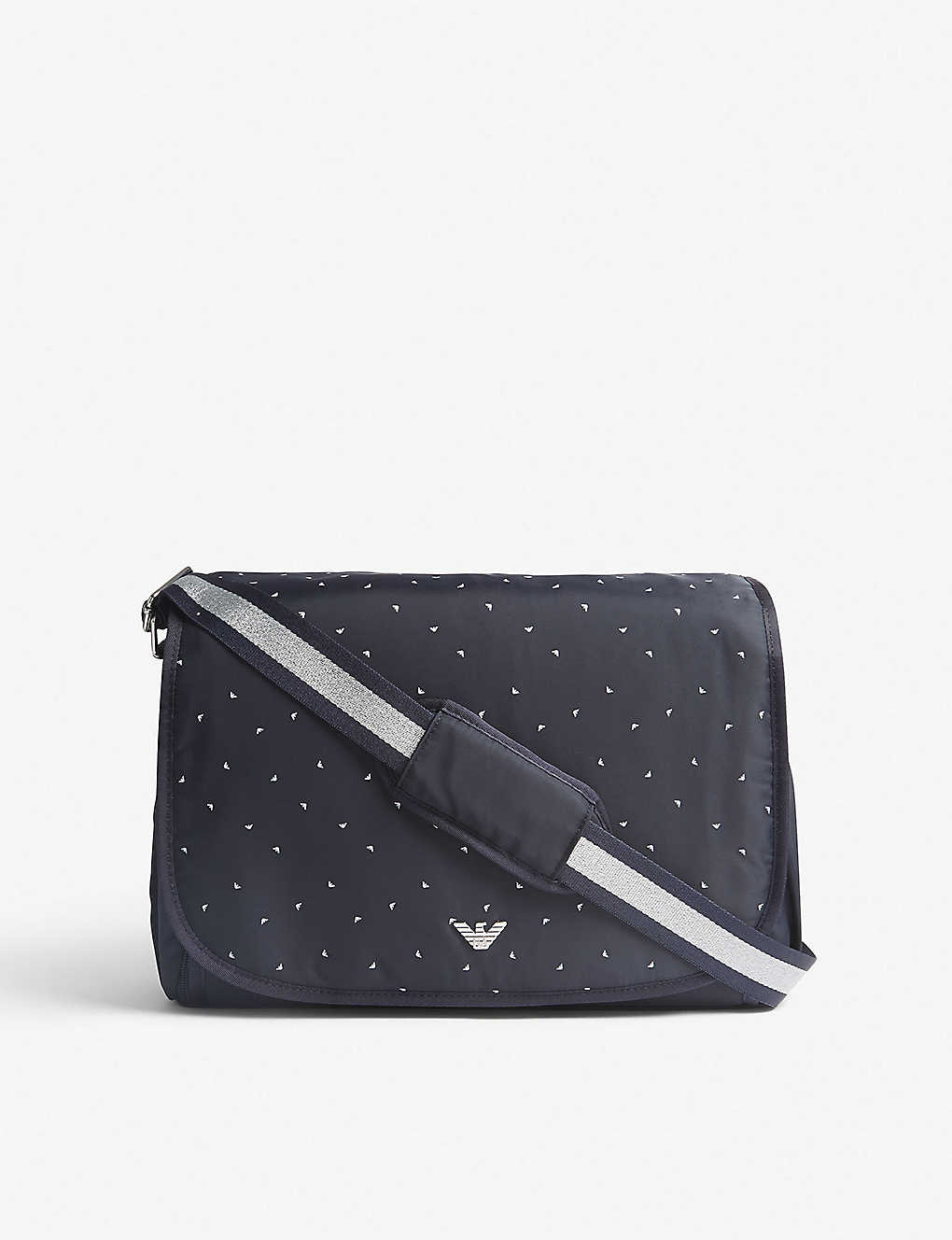 f0386178a8ffe EMPORIO ARMANI - Eagle-print nylon changing bag | Selfridges.com