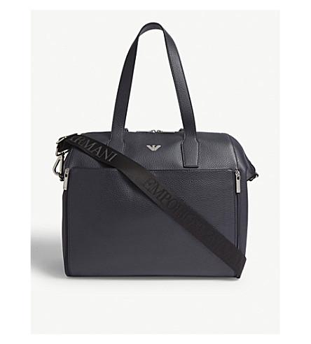 95d6d94d7bea EMPORIO ARMANI - Faux-leather baby changing bag | Selfridges.com