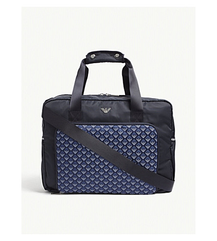 c9fb8bf3b03e ... EMPORIO ARMANI Eagle print changing bag (Navy. PreviousNext