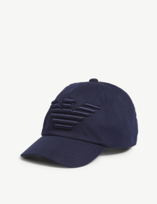 EMPORIO ARMANI Eagle logo cotton baseball cap