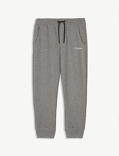 EMPORIO ARMANI Logo print jogging bottoms 4-16 years