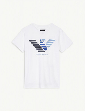 EMPORIO ARMANI Logo cotton T-shirt 4-16 years