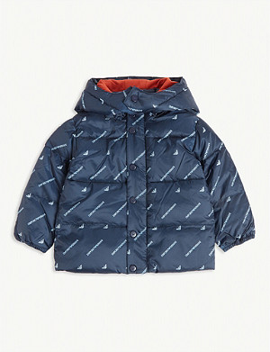 EMPORIO ARMANI Logo-print padded shell coat 3-36 months