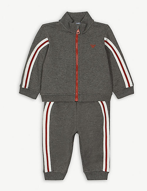 EMPORIO ARMANI Cotton-blend tracksuit set 3-36 months