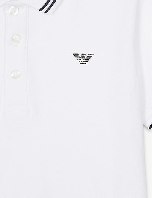 EMPORIO ARMANI Logo cotton-blend polo shirt 4-16 years