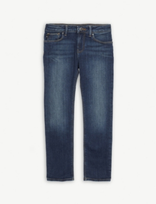 EMPORIO ARMANI Slim fit straight leg jeans 4-16 years