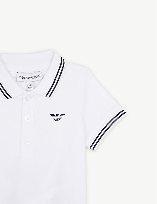 EMPORIO ARMANI Logo cotton polo shirt 6-36 months