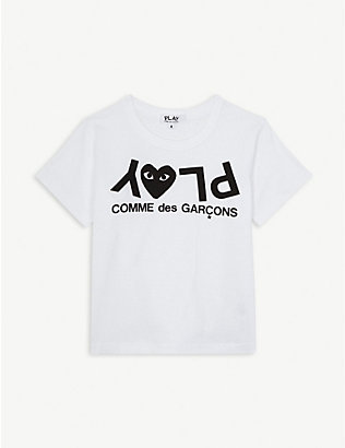 COMME DES GARCONS: Play logo cotton T-shirt 2-6 years