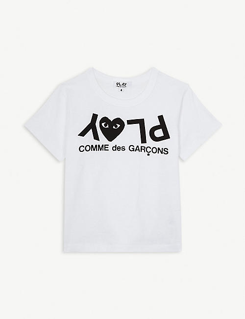 COMME DES GARCONS Play logo cotton T-shirt 2-6 years