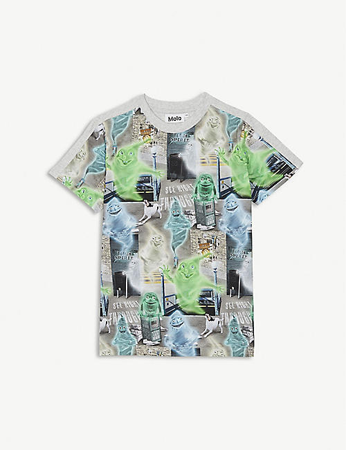 MOLO Ghost City print cotton T-shirt 4-14 years