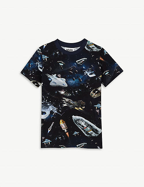 MOLO Ralphie spaceship cotton T-shirt 4-12 years