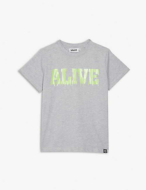 MOLO Alive-printed cotton T-shirt 4-14 years