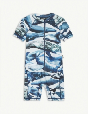MOLO Neka blue whales swimsuit 3-8 years