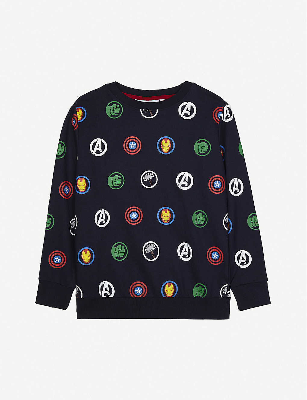 10529cb7a FABRIC FLAVOURS - Avengers print cotton jumper 3-10 years ...