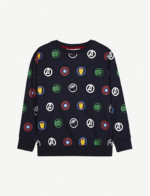 FABRIC FLAVOURS Disney Avengers print cotton jumper 3-10 years