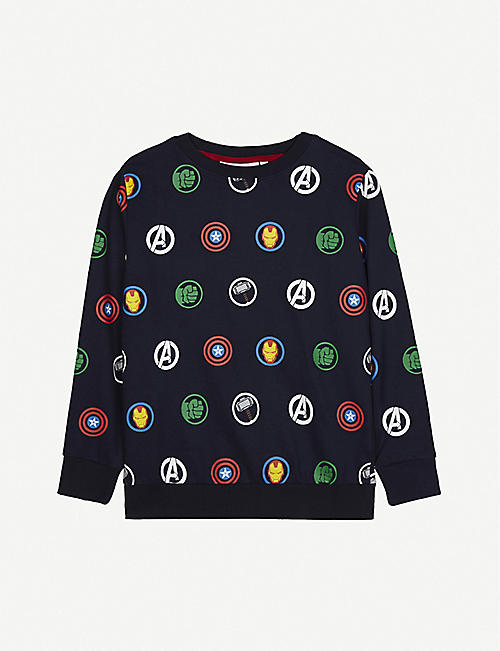FABRIC FLAVOURS: Disney Avengers print cotton jumper 3-10 years