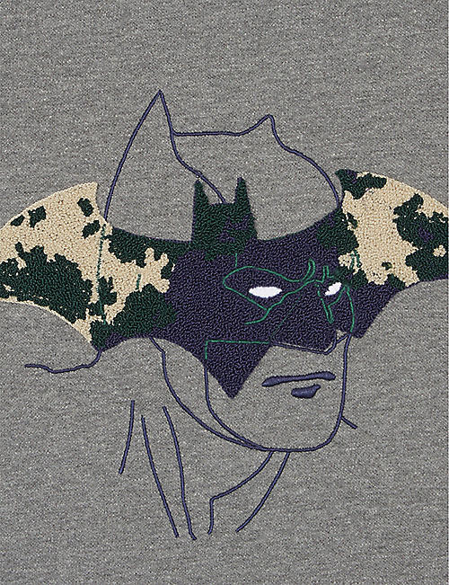 FABRIC FLAVOURS Batman camouflage logo T-shirt 3-10 years