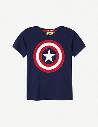 FABRIC FLAVOURS: Disney Captain America shield T-shirt 3-8 years