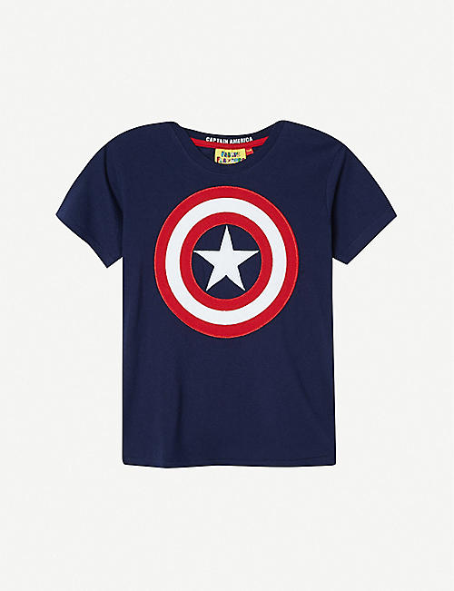 FABRIC FLAVOURS Captain America shield T-shirt 3-8 years