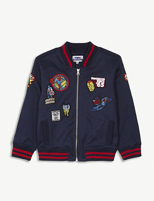 FABRIC FLAVOURS Disney Marvel badge cotton bomber jacket 3-8 years
