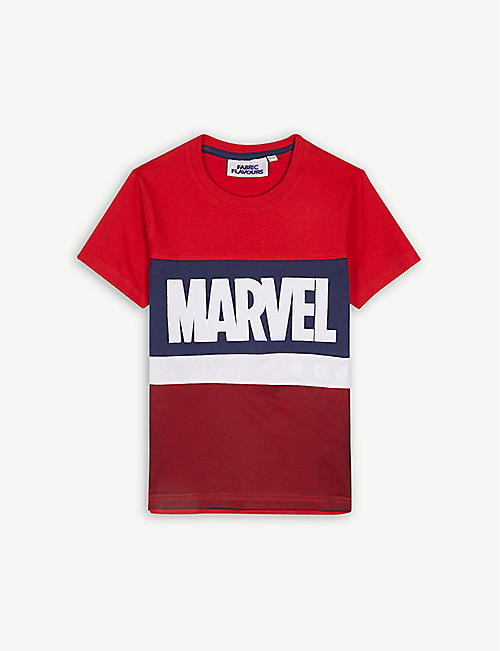 FABRIC FLAVOURS Marvel Avengers colour-block cotton T-shirt 3-10 years