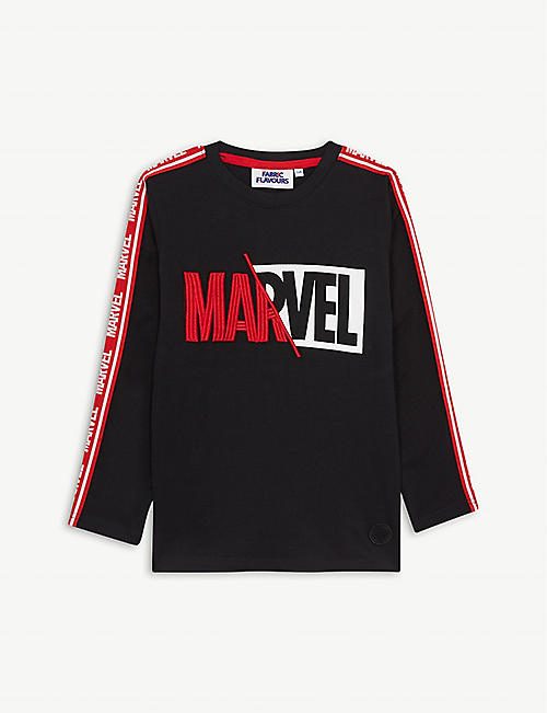 FABRIC FLAVOURS: Disney Marvel logo-print cotton T-shirt 3-10 years