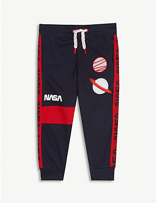 FABRIC FLAVOURS: NASA planet patches cotton jogging bottoms 3-10 years