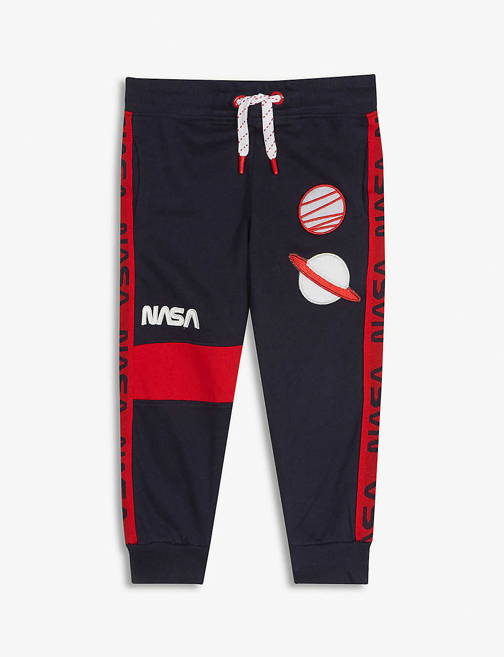 FABRIC FLAVOURS: NASA planet patches cotton joggers 3-10 years
