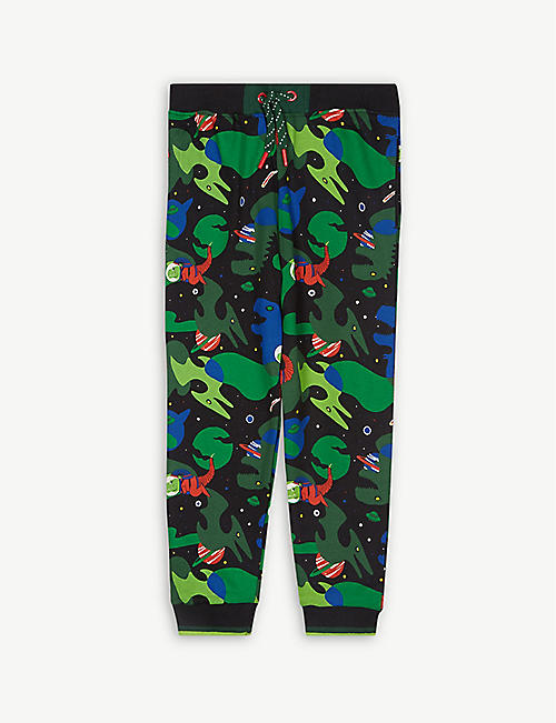 FABRIC FLAVOURS Out of this World space dinosaurs cotton joggers 3-10 years