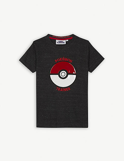 FABRIC FLAVOURS Pokemon trainer cotton-blend T-shirt 3-10 years