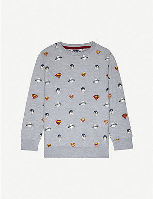 FABRIC FLAVOURS: Superman cotton-blend jumper 3-10 years