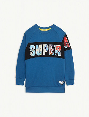 FABRIC FLAVOURS Superman graphic cotton sweatshirt 3-10 years