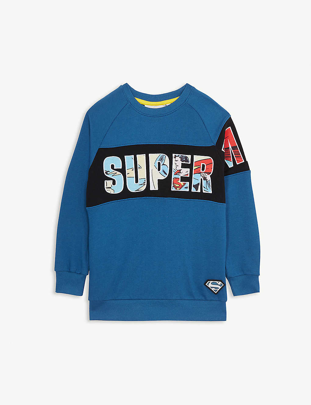 FABRIC FLAVOURS: Superman graphic cotton sweatshirt 3-10 years