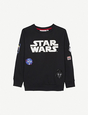FABRIC FLAVOURS Star wars badge cotton jumper 3-10 years