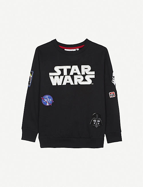 FABRIC FLAVOURS: Disney Star Wars badge cotton jumper 3-10 years