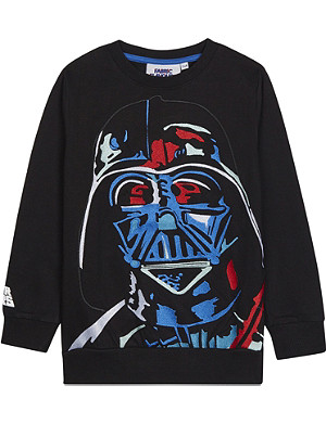 FABRIC FLAVOURS Embroidered Darth Vader sweatshirt 3-10 years