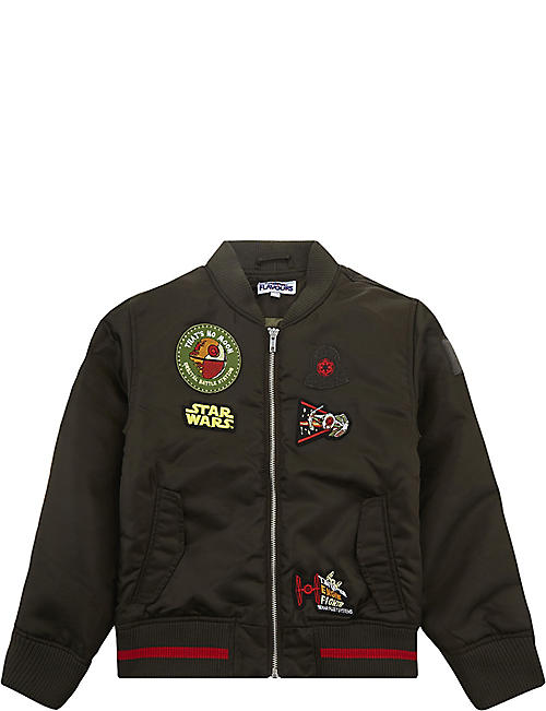 ddd79ad9a3c FABRIC FLAVOURS Star Wars interchangeable badge bomber jacket 3-10 years