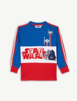 FABRIC FLAVOURS Star Wars colour-block cotton jumper 3-10 years