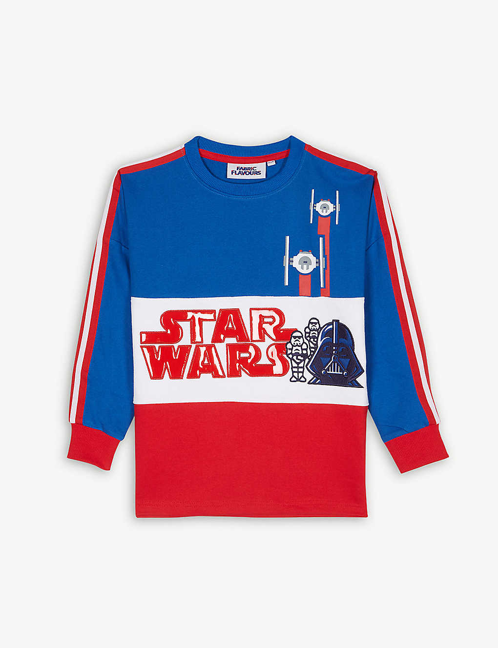 FABRIC FLAVOURS: Disney Star Wars colour-block cotton jumper 3-10 years