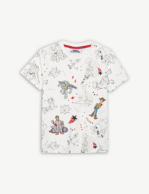 FABRIC FLAVOURS Toy Story 4 character print cotton T-shirt 3-10 years